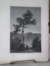Vintage Print,LAKE ALBANS,Rome,Francis Wey,1872