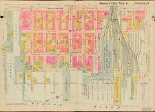 1908 JERSEY CITY, HUDSON COUNTY NEW JERSEY, WASHINGTON PARK, COPY PLAT ATLAS MAP