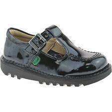 Kickers Kick T Infant Black Patent School Shoes 12 UK Child / 30 EU