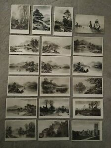 19no. C W Faulkner Postcards Mainly Landscapes Early 1900s Posted & Unposted