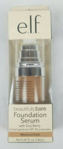 e.l.f. ELF Beautifully Bare Foundation Serum Gogi Berry SPF 25 Medium Dark