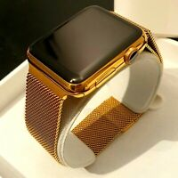 24k Gold Plated Apple Watch Series 1 Smart Watch Fully Boxed Milanese Wristband