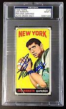 JOE NAMATH SIGNED 1965 TOPPS NEW YORK JETS ROOKIE CARD PSA AUTO GRADE MINT 9 RC