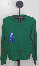IZOD Men's Campus Long Sleeve V-Neck Sweater Verdant Green - Size Small