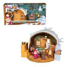 la casa invernale di orso e masha personaggio gioco set giocattolo per bambini
