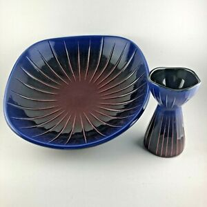 Rorstrand SPARAXIS Bowl and Candle Holder MCM