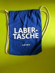 """Aldi Talk Baumwoll Turnbeutel  """" Labertasche """" Hipster Jute Tasche Gym Bag"""