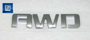 08-19 Chevy Equinox Traverse Acadia Hatch Liftgate AWD Chrome Emblem NEW GM 387
