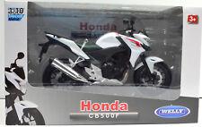 Honda CB 500F Blanco Escala 1:10 Moto Modelo de Welly