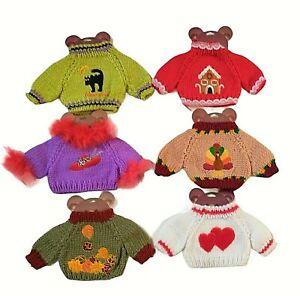"Teddy Bear Build A Bear Variety Lot of 6 Sweaters Fits 12"" - 16"" Size Teddy Bear"