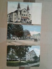 Three (3)  national soldiers home at Togus, Maine printed postcard