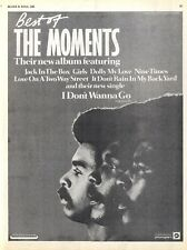 BS235P37 THE MOMENTS : I DON'T WANNA GO ALBUM ADVERT 11X8""