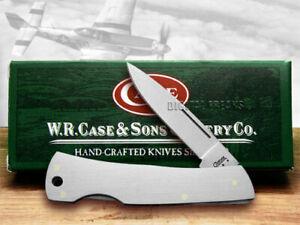 Case xx Medium Executive Lockback Knife Brushed Steel Stainless Pocket Knives 04