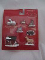 St Nicholas Square Village Accessories Dog House & Pets 7 pcs Cat & Dog NEW