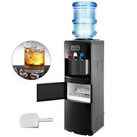 Water Dispenser w/ Built-In Ice Maker Top Load Hot & Cold LED Lights Handle Home
