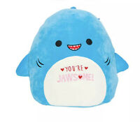 "Squishmallow Valentine's Day 8"" Rey The Shark Super Soft Plush Toy"
