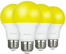 DEWENWILS 4 Pack LED Bug mosquito Light Bulbs Outdoor A19 Yellow Light HNLA19A