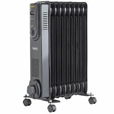 VonHaus 9 Fin 2000w Electric Portable Oil Filled Radiator Electrical Heater