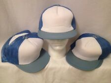 Wholesale Lot 7 Trucker Hats - NEW - BABY BLUE Mesh Adjustable Snapback CAPS