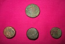 Ancient Copper Old Original Indian Islamic Mughal Period 4 Piece Coins