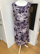 Reflections Purple And White Floral Shift Dress Size XL (18)