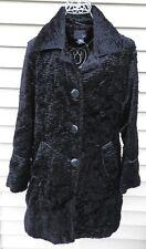 New East 5th Faux Fur Black Long Coat Jacket S small