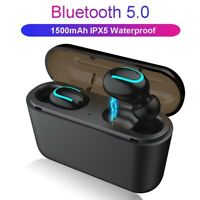 Wireless Earbuds TWS Mini True Bluetooth 5.0 Stereo Earphone Bass In-Ear Headset