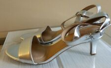 Naturalizer Tinda Open Toe  Sliver Leather Sandals Size 8M