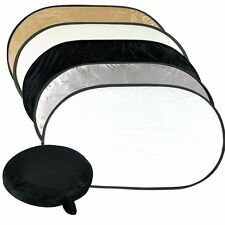 """90x120cm 36x48"""" 5 in 1 Photography Studio Disc Collapsible Photo Light Reflector"""