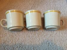 3 Hearthside Garden Festival Stoneware Coffee Cups Mugs