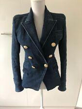 Balmain Blue Denim Blazer Size 38