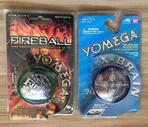 Yomega X-Brain & Fireball Circa 1999 yoyo yo-yo yo yo xbrain