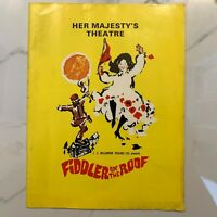 Fiddler On The Roof - Her Majesty's Theatre Playbill - 1967 - J. C. Williamson