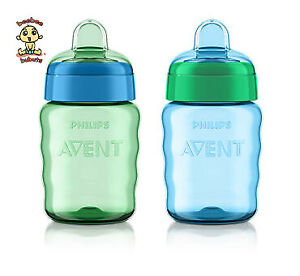 Avent My Easy Sippy, Blue and Green, 9 oz, 9m+, 2 Pack, Authentic & Brand New
