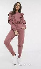 Influence Jogging Joggers Bottoms Slim Leg Pink Loungewear Size 14 EE58 New