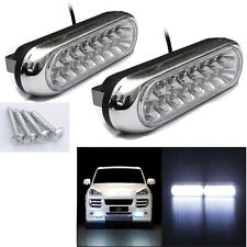 2x 16 LED Car Van DRL Day Driving Daytime Running Fog Super Bright Light Lamp