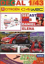 DECAL 1/43 CITROEN C4 WRC S.LOEB R. IRELAND 2007 WINNER (01)