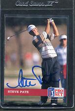 1992 Pro Set Golf Steve Pate #77 Signed Autograph