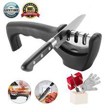 knife 3 sharpener diamond ceramic kitchen stage Kitchen sharpening Non-slip Base