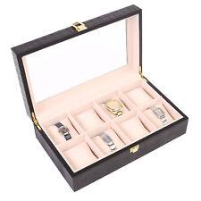 Uhrenbox Uhrenkoffer für 8 Uhren Uhrentruhe Uhrenkasten Uhrenschatulle