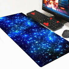 600*300mm Large Mouse Pad Galaxy Anti-Slip Laptop Computer Mouse Pad Keyboard UK