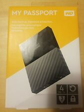 WD My Passport 4TB USB 3.0 Portable External HDD (Black) - WDBYFT0040BBK-WESN