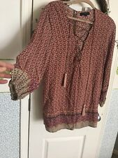 Haute And Rebellious Patterned Boho Tunic Size Small