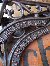 Victorian Industrial Style J.Duckett Iron Shelf Brackets rack luggage rail hook