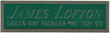 JAMES LOFTON PACKERS NAMEPLATE AUTOGRAPHED SIGNED FOOTBALL-HELMET-JERSEY-PHOTO