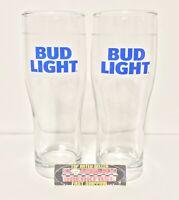 Bud Light Premium Light Lager Set Of 4 16 Oz Pint Beer Glasses Brand New Ebay