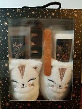 *New* Simple Pleasures Plush Slippers & Pedicure Gift Set