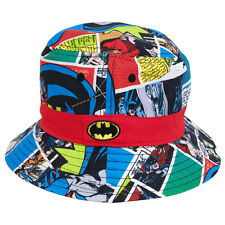 Batman DC Comics Comic Strip Microfiber Youth Kids Fisherman Bucket Cap Hat
