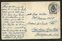 RUSSIA 1908 PCARD CIRCULED TO ARGENTINA (ROSARIO S.F) VERY NICE
