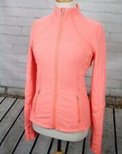 Lululemon Full Zip Fitness Jacket Mock Neck Top Size 8 Peach Pink